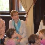 Herczegh Anita, a köztársasági elnök felesége és Langerné Victor Katalin, a Magyarság Háza igazgatója ()