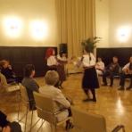 """""""Csángó kultúra - élő értékeink"""": Mokány Rozi és Pusztinai Annamária csángó énekesek, a Somos együttes, valamint csángó táncosok ()"""