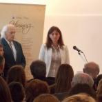 Langerné Victor Katalin, a Magyarság Háza igazgatója köszönti a vendégeket ()