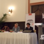 Répás Zsuzsanna nemzetpolitikáért felelős helyettes államtitkár, valamint a konferencia előadói ()