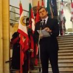 Seszták Oszkár országgyűlési képviselő, a Szabolcs-Szatmár-Bereg Megyei Közgyűlés elnöke megnyitja a kiállítást ()