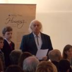 Z. Urbán Aladár, a felvidéki Palóc Társaság elnöke megnyitja az esszéíró pályázat díjkiosztó ünnepségét ()